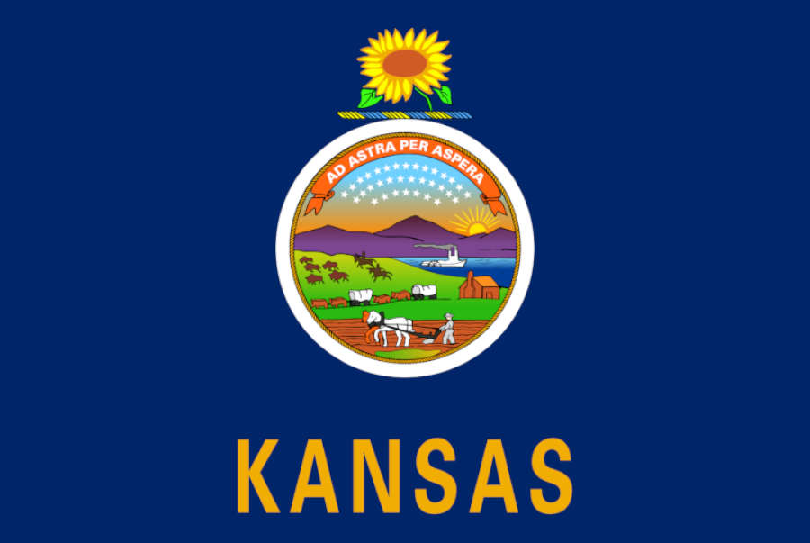 The official logo of Kansas.