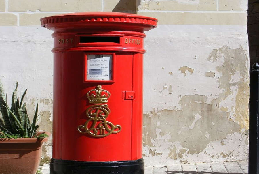 A post-box in Malta.