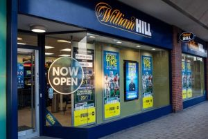 William Hill's store window in the UK.