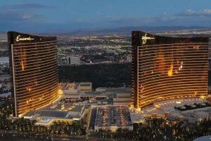 Wynn Resorts properties in the evening.