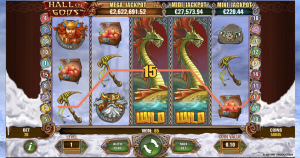 NEtEnt's Hall of Gods slots game