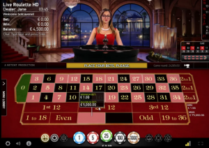 Live real money roulette screenshot at Casumo Casino