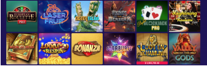 selection of slot games