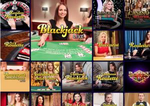 live dealer games screenshot