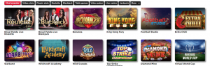 royal panda game selection screenshot