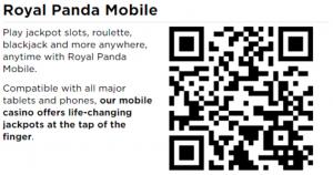 royal panda mobile app qr code