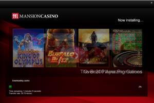 mansion casinos installation screen
