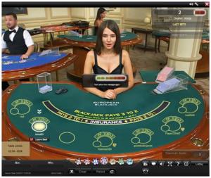 live dealer blackjack screenshot