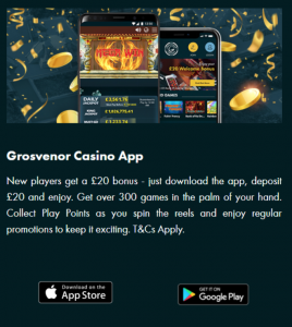 Grosvenor Casinos official mobile app