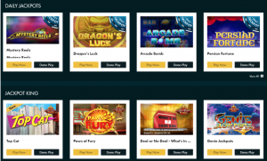 selection of jackpot games