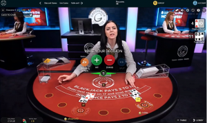 live dealer screenshot