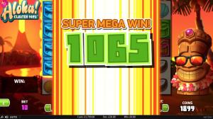 getting a win on Aloha! slots