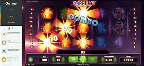 casumo starburst screenshot
