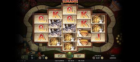 Playing Jumanji, the slot game.
