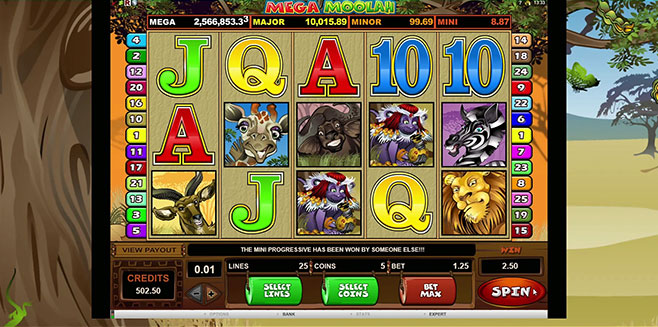 screenshot microgaming mega moolah