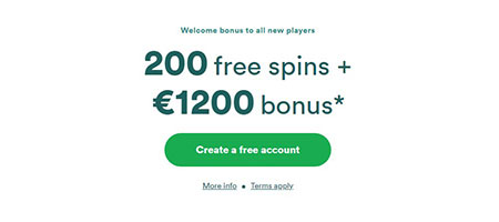 Casino bonus for new users.